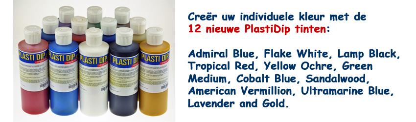 Creëer uw individuele kleur met de 12 nieuwe PlastiDip tinten