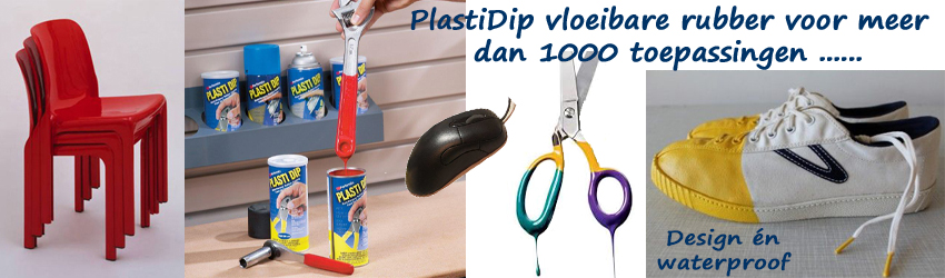 PlastiDip vloeibare rubber voor meer dan 1000 toepassingen